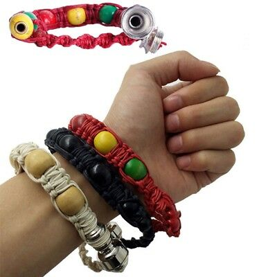Hottest Portable Metal Bracelet Smoking Pipe Jamaica Rasta Weed Smoke Pipes NEW