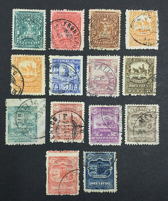 Momen: Mexico #242-256 Used $615 Lot #6537