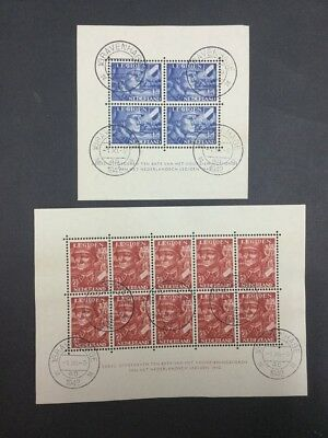 Momen: Netherlands # Premium Sheets 1942 Used $ Lot #6870