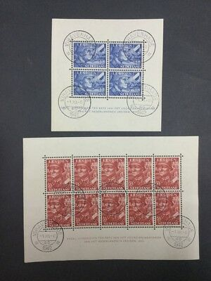 Momen: Netherlands # Premium Sheets 1942 Used $ Lot #6871