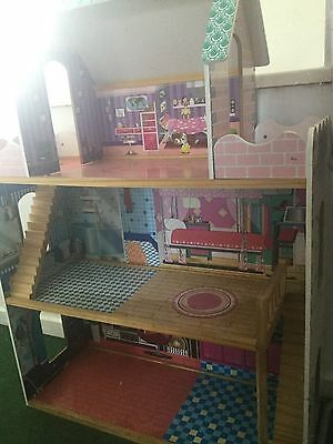 4ft 3 Storey Dolls House With Barbie Doll & Furniture Manchester