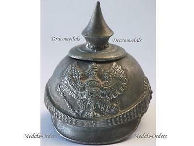 GErmany Trench Art WW1 Prussia Spiked Helmet Eagle Ink Bottle Cover 1914 1918
