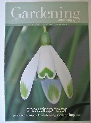 Gardening Which? Magazine. January/February, 2002. Snowdrop fever. Buying seeds