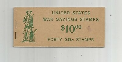 US WAR SAVINGS STAMP UNEXPLODED BOOKLET, SCOTT# WS8b,