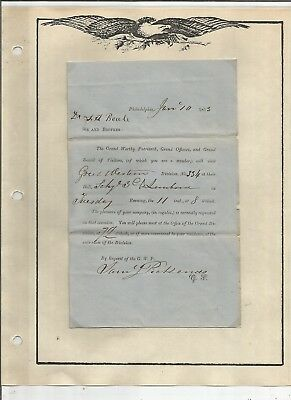 1853 Invitation For Dr. Beale To G.w.p. Hall