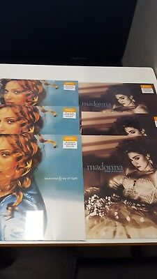 Madonna  x 1 Ray of light x Like a virgin - blue and clear vinyls. sainsburys...