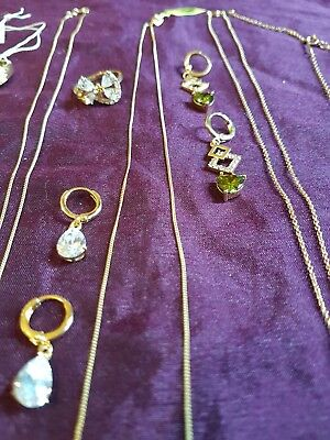 job lot silver rings + necklaces, pendants x 14 - mostly new