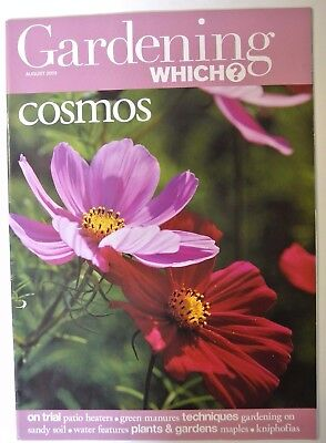 Gardening Which? Magazine. August, 2003. Cosmos. Maples. Kniphofias. Sandy soil
