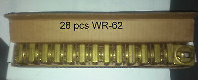 Wr-62, Waveguide Flanges Lot Of 28 Pcs Brass Flanges New