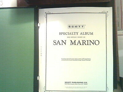 San Marino Collection In Scott Specialty Album, Both Mint An Used