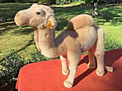 "Vintage STEIFF Camel Large 16"" HOCKY New with Original Tags"