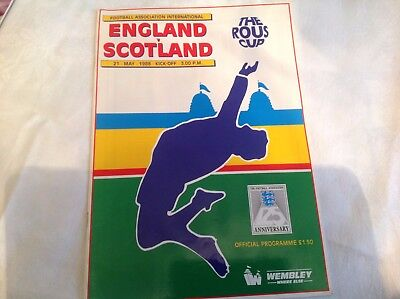 England V Scotland 21St May 1988 Rous Cup