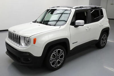 2016 Jeep Renegade Limited Sport Utility 4-Door 2016 JEEP RENEGADE LIMITED HTD LEATHER REAR CAM 26K MI #C84873 Texas Direct Auto
