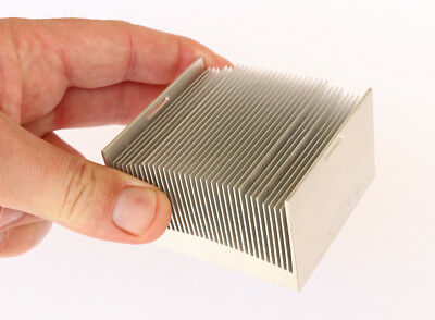 Aluminium Heatsink 75mm x 75mm x 45mm approx Finned