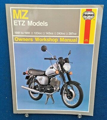 Haynes Mz Etz Motorcycle Workshop Manual 1981 - 1991 Very Good Condition