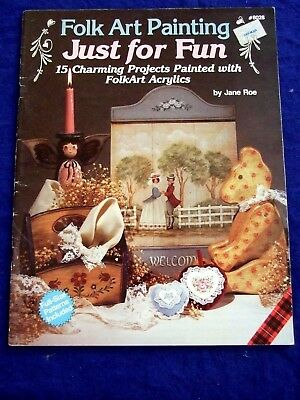 "Tole Painting Pattern Book Plaid "" Folk Art Just For Fun""Angels/ Children  &Mor"