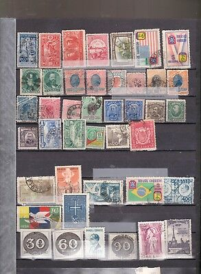 Brazil key stamps all different  Cat $146.50