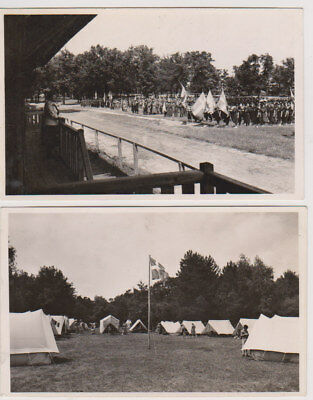 Two Postcards 1939 Girl Guide Pax-Ting International Camp Hungary
