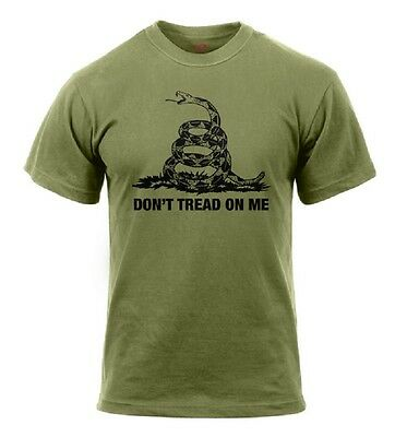 Rothco Snake Don't Tread On Me Vintage US T-Shirt shirt OD Green oliv L Large