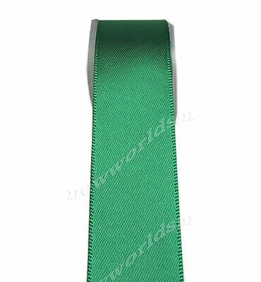 "4y 57mm 2 1/4"" Emerald Premium Double Sided Wide Heavy Satin Ribbon Eco FREE PP"