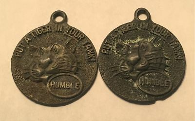 Vintage Put A Tiger In Your Tank Humble Key Fob - Happy Motoring Club - Lot Of 2