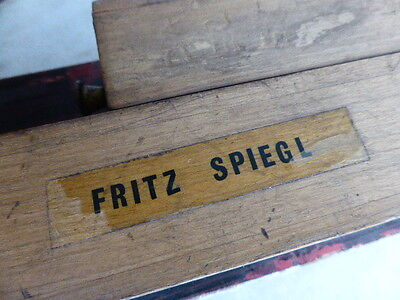 Vintage wooden musical instrument designed and made by Fritz Spiegl