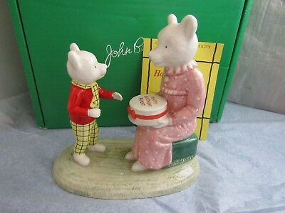 Happy Birthday Rupert 500 Limited Edition 80th Birthday with his Mum  Beswick