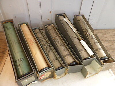 Set of 6 vintage pianola music rolls