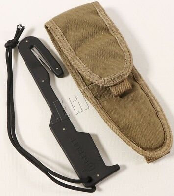 Gerber Safety Strap Cutter w/ Coyote Brown Nylon Sheath Emergency Egress Tool