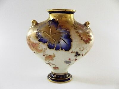 Small Antique Royal Crown Derby Vase Dated 1901 Ref 120/