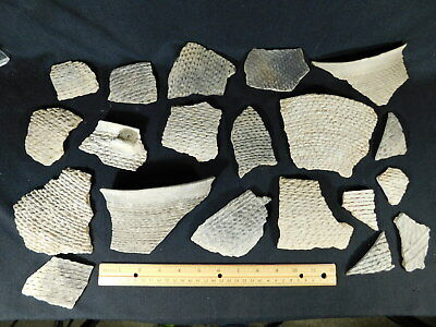 Lot of Corrugated Anasazi Pottery Shards or Sherds From Southeast Utah 935gr e