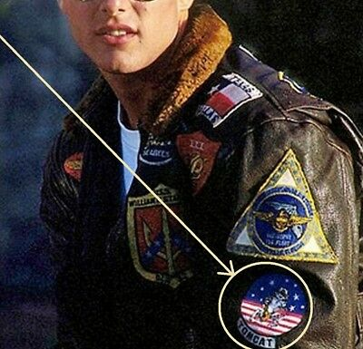 as seen on MOVIE TOP GUN MAVERICK'S FLIGHT JACKET F-14 TOMCAT Original Design