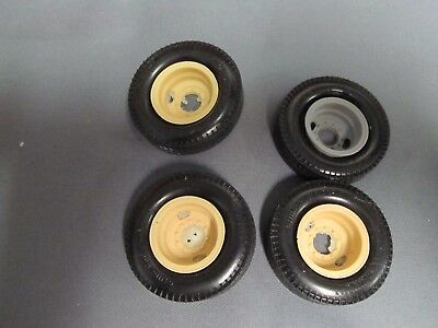 Resin cast 2 hole budds, Revell of Germany Michelin tires.  1/25th scale.