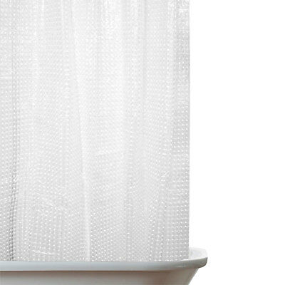 New Hookless PEVA Shower Curtain with Checked 3D Effect Pattern – 180 x 180 cm