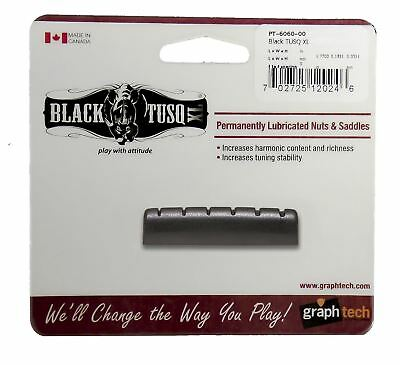 Graphtech Black Tusq XL Nut Slotted 1/4inch for Epiphone Guitars