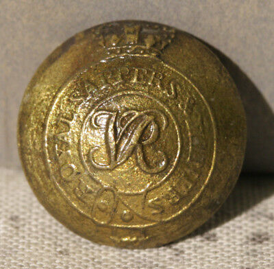 ROYAL NAVY DOCK YARD BERMUDA - Dive Recovered Royal Sappers & Miners Cuff Button