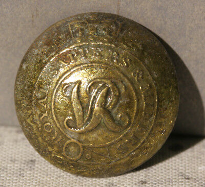 ROYAL NAVY DOCK YARD BERMUDA - Dive Recovered Royal Sappers & Miners Coat Button