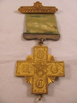 Antique Medal Knights Templar Oliver Optic Commandery Medway MA No 144