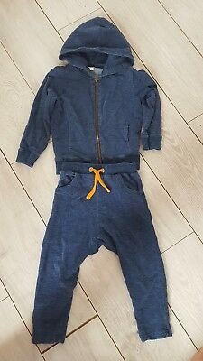 adorable boys blue river island tracksuit age 3 to 4