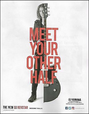 Dave Keuning (The Killers band) 2017 Yamaha Revstar guitar 8 x 11 ad print