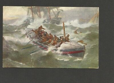 Postcard - Lifeboat - Posted Lytham St Annes 6 Aug 1917