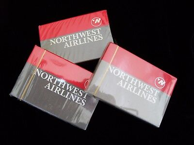 Lot Of Three Sealed Decks Of Northwest Airline Playing Cards
