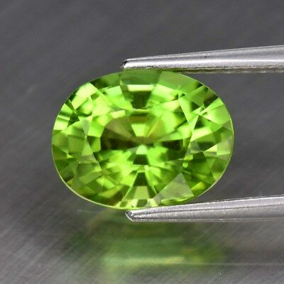 2.14ct 9x7mm Oval Natural Untreated Green Peridot, Pakistan