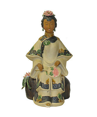 Chinese Oriental Ceramic Ancient Style Dressing Lady Figure cs3294