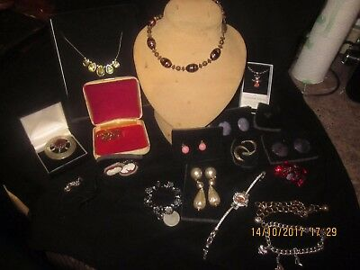 Antique/vintage and modern jewellery some silver job lot (lot 1)