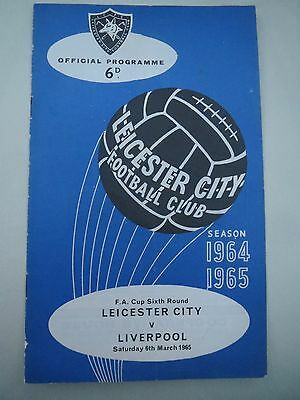 Leicester City V Liverpool FA Cup 1964/5