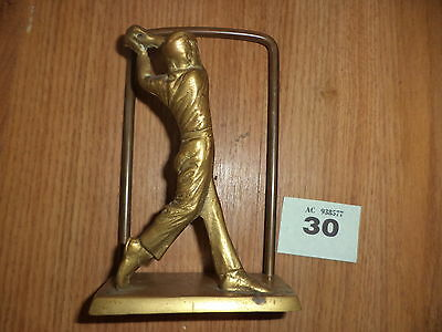 Brass  golf player letter rack