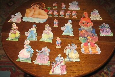 Vintage Scraps -  Mixed lot - elves cherubs children