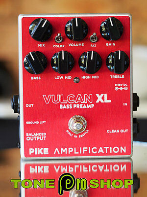Pike Amplification Vulcan XL Bass Preamp Brand New 99c Auction $419 AUD RRP