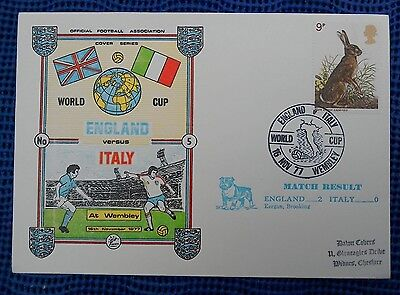 1977 Official Fa Cover No 5 - World Cup Qualifying - England 2 Italy 0 Wembley